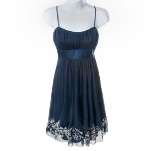 City Triangles Dress Sheer Blue Sequins - NWT - S